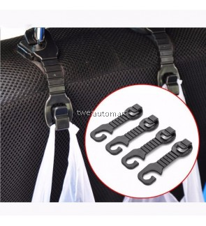 1 Pair Car Back Seat Headrest Hanger Holder Hooks for Bag Purse Cloth Grocery Storage Auto Fastener Clip