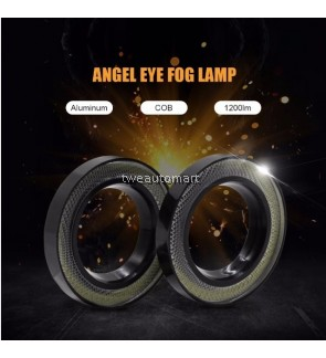 2PCS Car Angel Eyes COB Led Car Auto Led Angel Eyes fog Lights Headlight 1200lm Car lamp Accessories 85mm 6000K-7000K