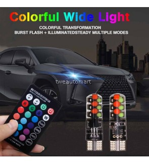 New Arrival T10 RGB COB Width Lamp Clearance Lights Colorful Flashing LED Light 12V 12SMD With Remove Control