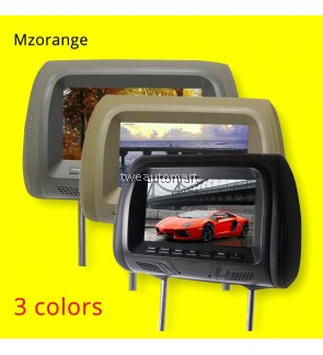 Universal 7 inch Car headrest monitor display LCD color monitor display Car Pillow monitor