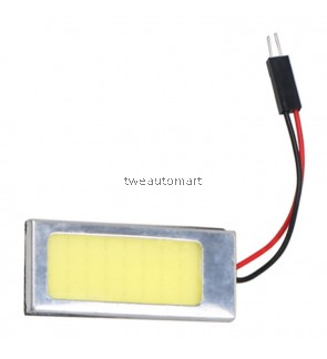 COB LED Panel Super White Car Reading Map Lamp Auto Dome Interior Bulb Roof Light with T10 Adapter Festoon Base 12V