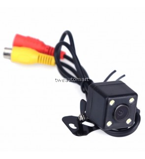 Waterproof 4 LED Night Vision Car CCD Rear View Camera Parking Assistance Camera For Android For DVD Monitor