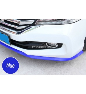 fiber Rubber Soft Black bumper Strip Car 60mm Width 2.5m length Exterior Front Bumper Lip Kit / Car bumper Strip