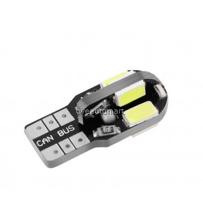 High Quality T10 8SMD 5630 LED Car Light Canbus NO OBC ERROR Auto Wedge Lamp 2825 W5W 8 SMD 5730 Led Parking Bulb 12V 10X