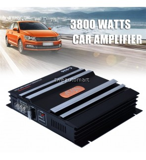 12V Car Audio Amplifier 2 Channel Powerful Low Pass Filter Car Amplifier Bass AMP Aluminum
